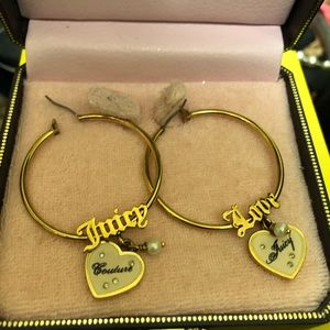 Juicy Couture Heart dangle earrings